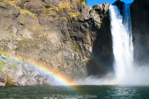 Twin Rainbows at Snoqualmie Falls, Washington, USA