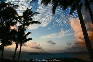 Sunset from One Tree Hill, Hamilton Island near the Great Barrier Reef.  1/200 sec, f/6.3 at ISO100